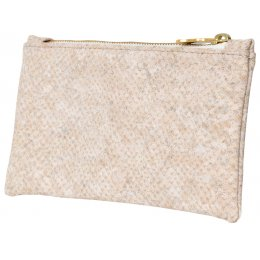 Wilby Vroc White Snake Pouch