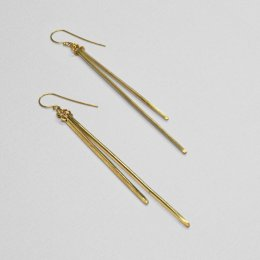 Made Brass Long Drop Earrings