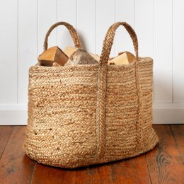 Large Woven Natural Jute Bag