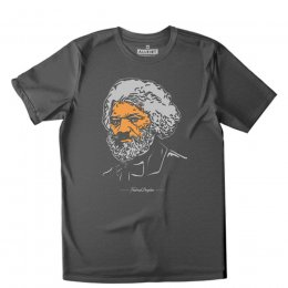 All Riot Frederick Douglass Organic T-Shirt - Charcoal