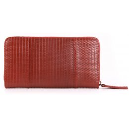 Elvis & Kresse Reclaimed Firehose Zip Purse - Red