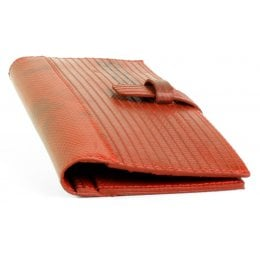 Elvis & Kresse Reclaimed Firehose Travel Wallet - Red