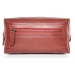 Elvis & Kresse Reclaimed Firehose Large Wash Bag - Red