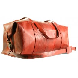 Elvis & Kresse Reclaimed Firehose Weekend Bag - Red