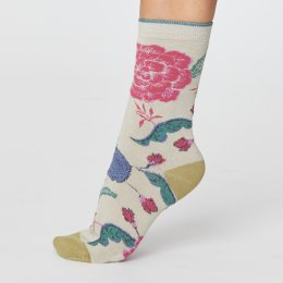 Thought Womens Grand Floral Bamboo Socks - Ceam