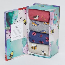 Thought Womens Spring Meadow Bamboo Socks Gift Box