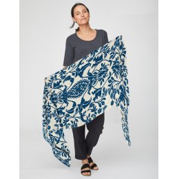 Thought Ocean Blue Naturegram Scarf
