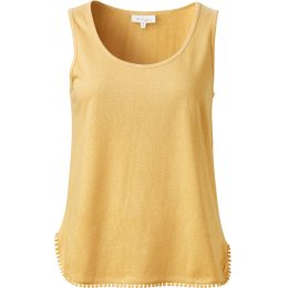 Thought Florianne Pom Pom Trim Vest Top - Mimosa Yellow