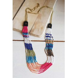Nomads 9 String Bead Necklace