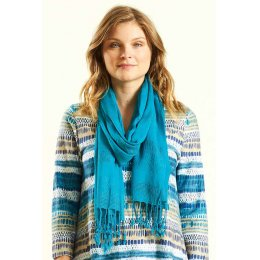 Nomads Kingfisher Plain Viscose Scarf