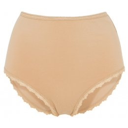 People Tree Organic Cotton High Waist Lace Briefs