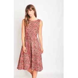 Bibico Raspberry Paisley Grace Swing Dress