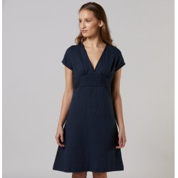 Mudd & Water Navy Linen Dress