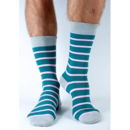 Doris & Dude Mens Pink Stripe Bamboo Socks