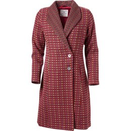 Nomads Damask Shawl Collar Coat