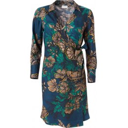 Nomads Floral Wrap Crepe Dress