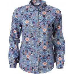 Nomads Sea Blue Floral Cotton Voile Shirt