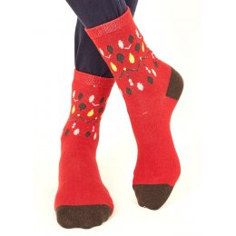 Nomads Womens Organic Cotton Souk Socks - Red