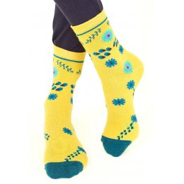 Nomads Womens Organic Cotton Bloomsbury Socks - Citrine