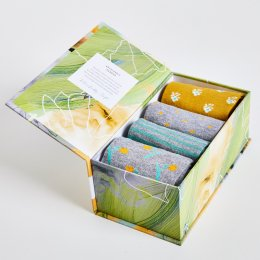 Thought Womens Pastoral Natures Poet Bamboo Socks Gift Box