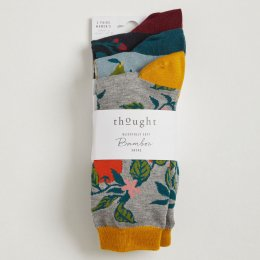 Thought Womens Winter Fruits Bamboo Socks - 3 Pairs
