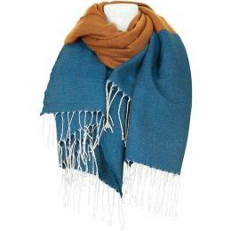 Thought Petrol Blue Linnear Scarf