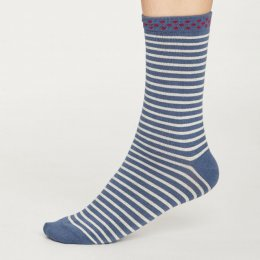 Thought Womens Blue Slate Hedda Stripe Bamboo Socks