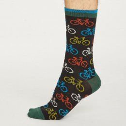 Thought Mens Black Cycler Bamboo Socks