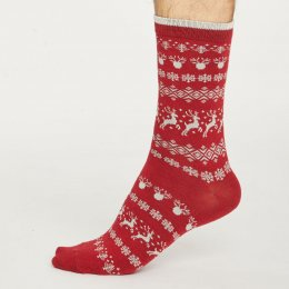 Thought Mens Reindeer Bamboo Socks