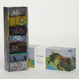 Thought Mens Navy Bike Rider Bamboo Socks Gift Box