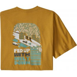 Patagonia Fed Up With Melt Down Responsibili-Tee - Glyph Gold