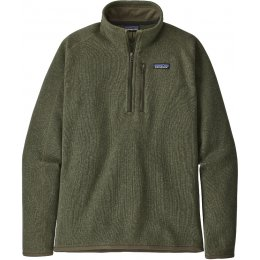 Patagonia Mens Better Sweater 1/4 Zip Jacket - Industrial Green