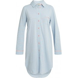 People Tree Blue Stripe Pyjama Shirt Dress