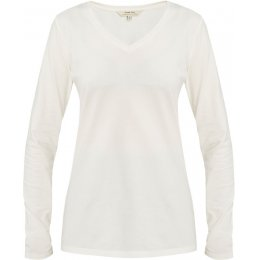 People Tree Eco White Amelie V-Neck Top