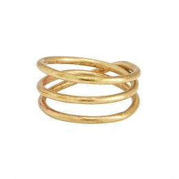 People Tree Brass Coil Ring
