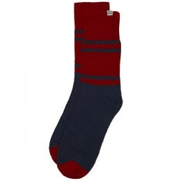 Komodo Navy & Red Cabin Socks