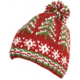 Retro Christmas Bobble Beanie Hat