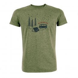 Green Bomb Nature Million Star T-Shirt - Khaki
