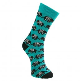 Elephant Print Bamboo Socks - UK3-7