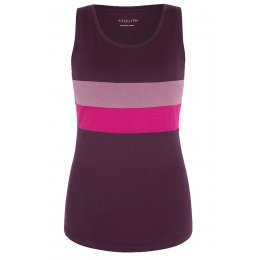 Asquith Bamboo Go To Vest - Berry, Heather & Fuchsia