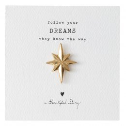 A Beautiful Story North Star Gold Brooch
