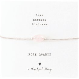 A Beautiful Story Gemstone Card Rose Quartz Bracelet