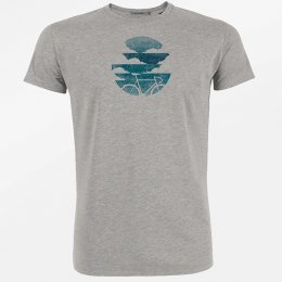 Green Bomb Bike Sky T-Shirt - Heather Grey