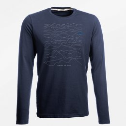 Green Bomb Nature Mountains Call Long Sleeve T-Shirt - Navy