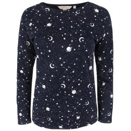 People Tree Galaxy Print Long Sleeve Pyjama T-Shirt