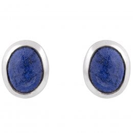 People Tree Silver Lapis Lazuli Stud Earrings