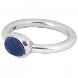 People Tree Silver Oval Lapis Lazuli Ring