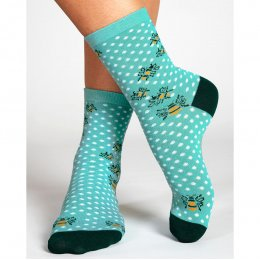 Nomads Eggshell Bumble Bee Socks - UK4-7