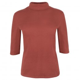 People Tree Cinnamon Cecily Turtleneck Top