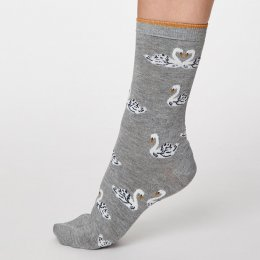 Thought Mid Grey Marle Cigno Bamboo Socks - UK4-7
